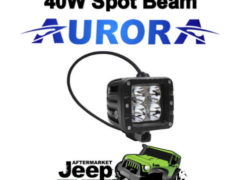 AURORA DUALLY 2 D2 40W Spot Beam 10w LEDs, Light Bar 4x4 Suit Offroad Camping