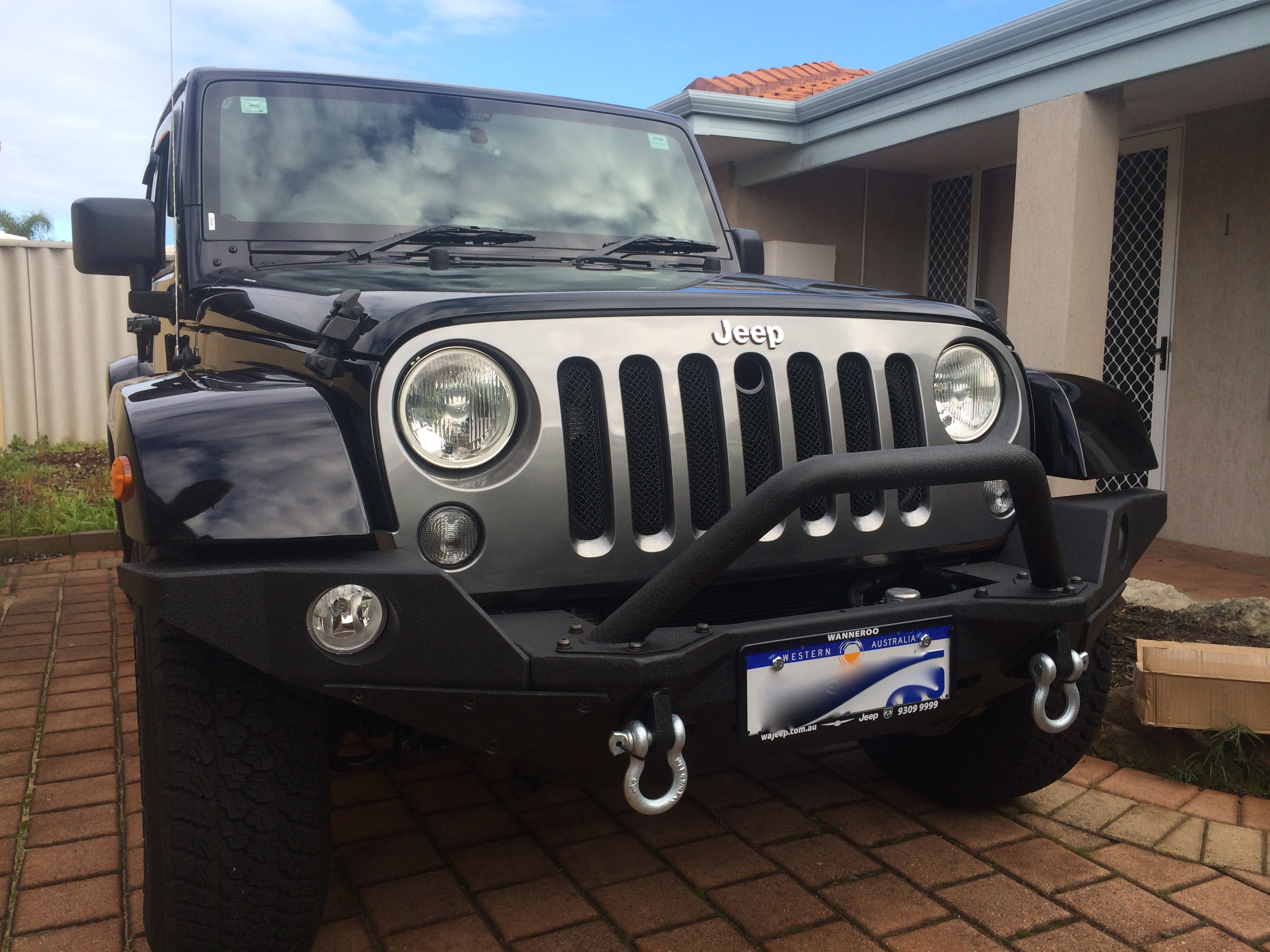 steel modular black ripple powdercoated bumper for 07 14. Cars Review. Best American Auto & Cars Review