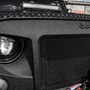 JPA Highflow Angry Grill with JPA Hid Headlights & Runva11xp Winch