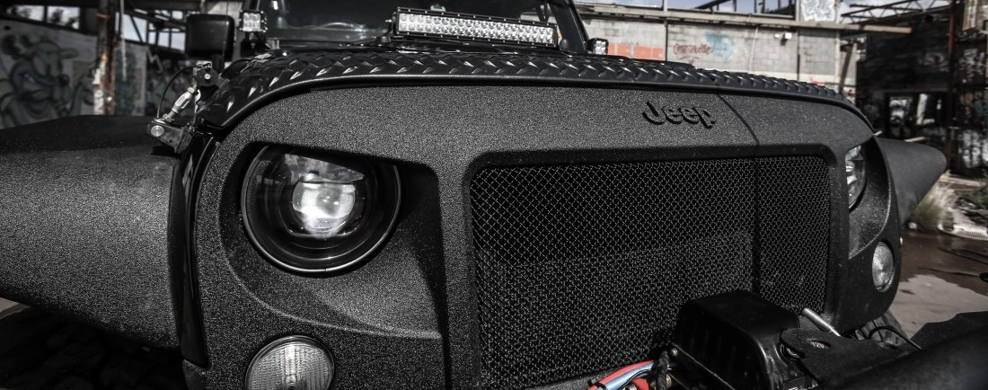 BLACK Signature Ripple Coating for Jeep Wrangler Grill ...