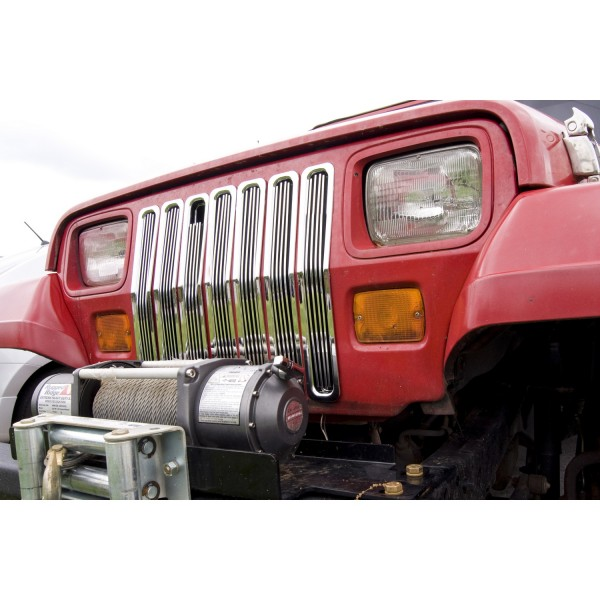 Rugged Ridge Billet Grille Inserts, Chrome 87-95 Jeep