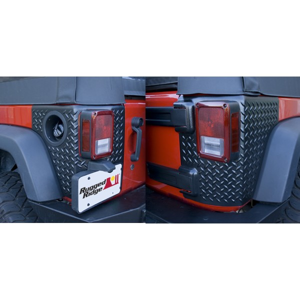 Jeep Wrangler Rear Corner Guards RUGGED RIDGE Corner Guards, Body Armor 07 & UP Jeep Wrangler JK, 4 ...
