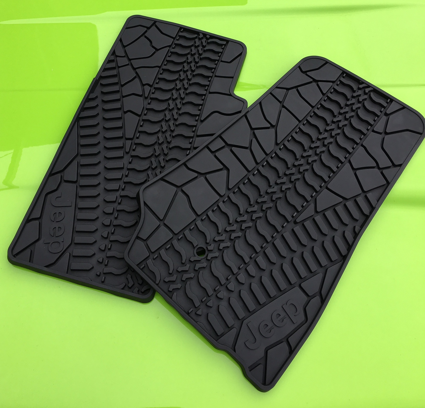 JK Tyre pattern Floor Mat Matt set, Front JK JK8 2 door ...