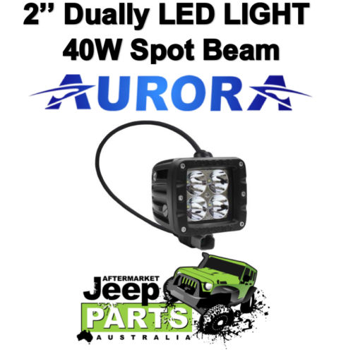 AURORA DUALLY 2 D2 40W Spot Beam 10w LEDs, Light Bar 4×4 Suit Offroad Camping