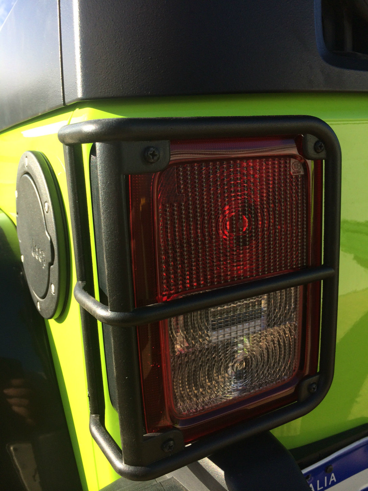 Tail Light Guards Black Powdercoated