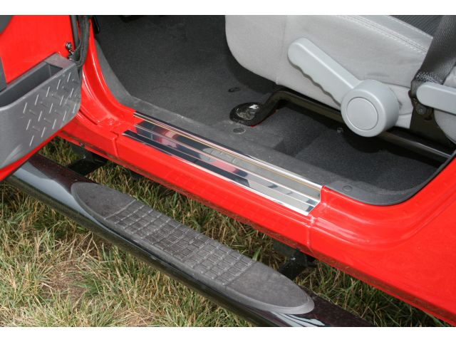 Rugged ridge entry guard set in stainless steel for 07 15 for 07 4 door jeep wrangler for sale