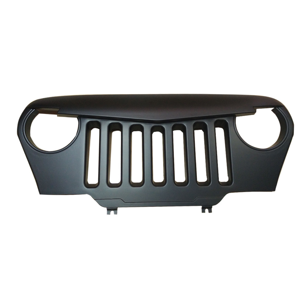 Jeep Wrangler Tj Angry Grill Grille Abs Plastic To Suit 96
