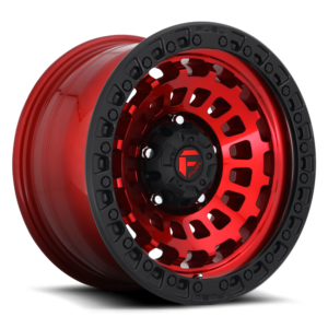 Fuel Zephyr D632 Candy Red W Matte Black Ring 17 215 9 5